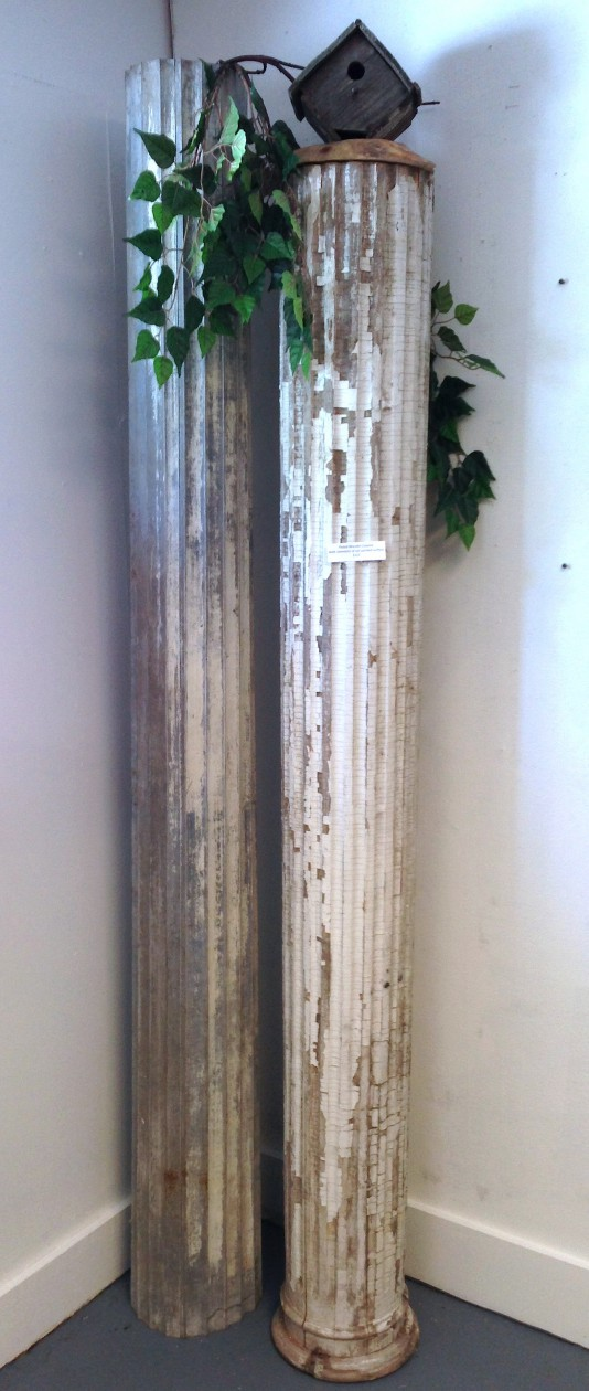 2 fluted architectural columns 1 wood and 1 zinc for Architectural wood columns